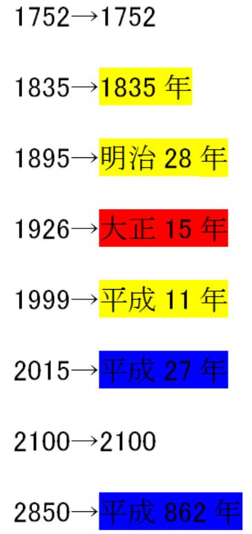 年 平成 西暦 27